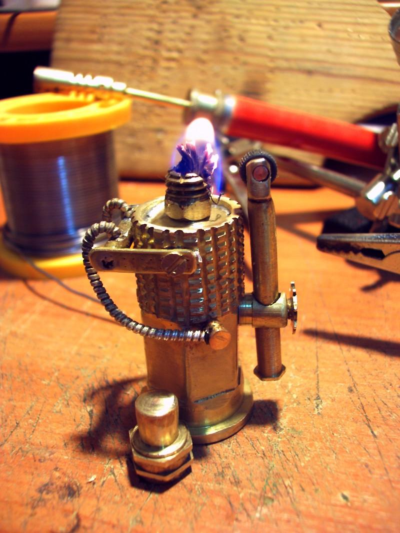 Стимпанк бензиновая зажигалка #1 (5 фото)