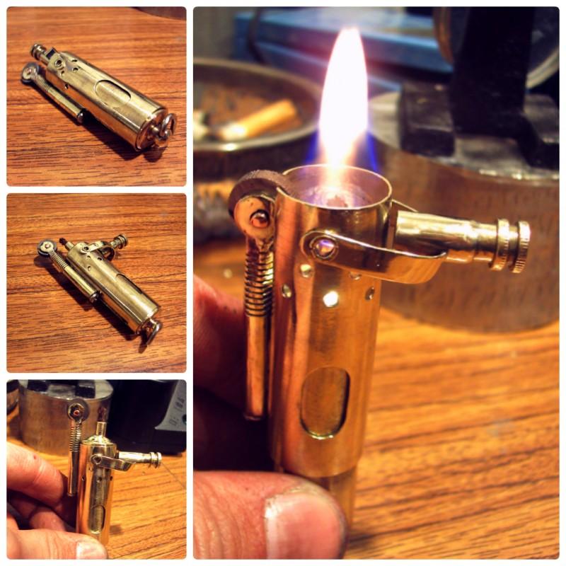 Стимпанк бензиновая зажигалка #3 (6 фото)
