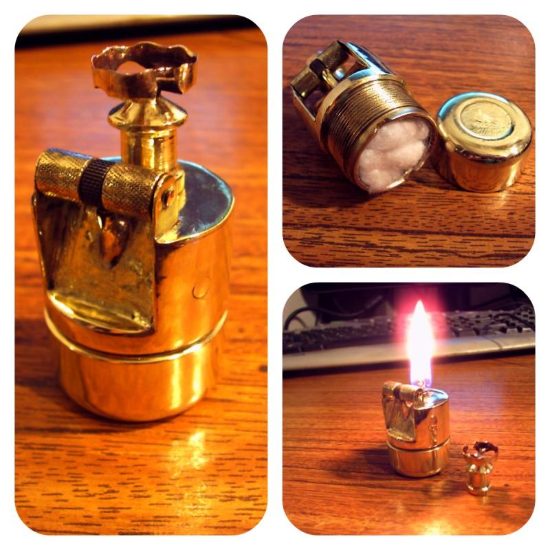 Стимпанк бензиновая зажигалка #4 (5 фото)