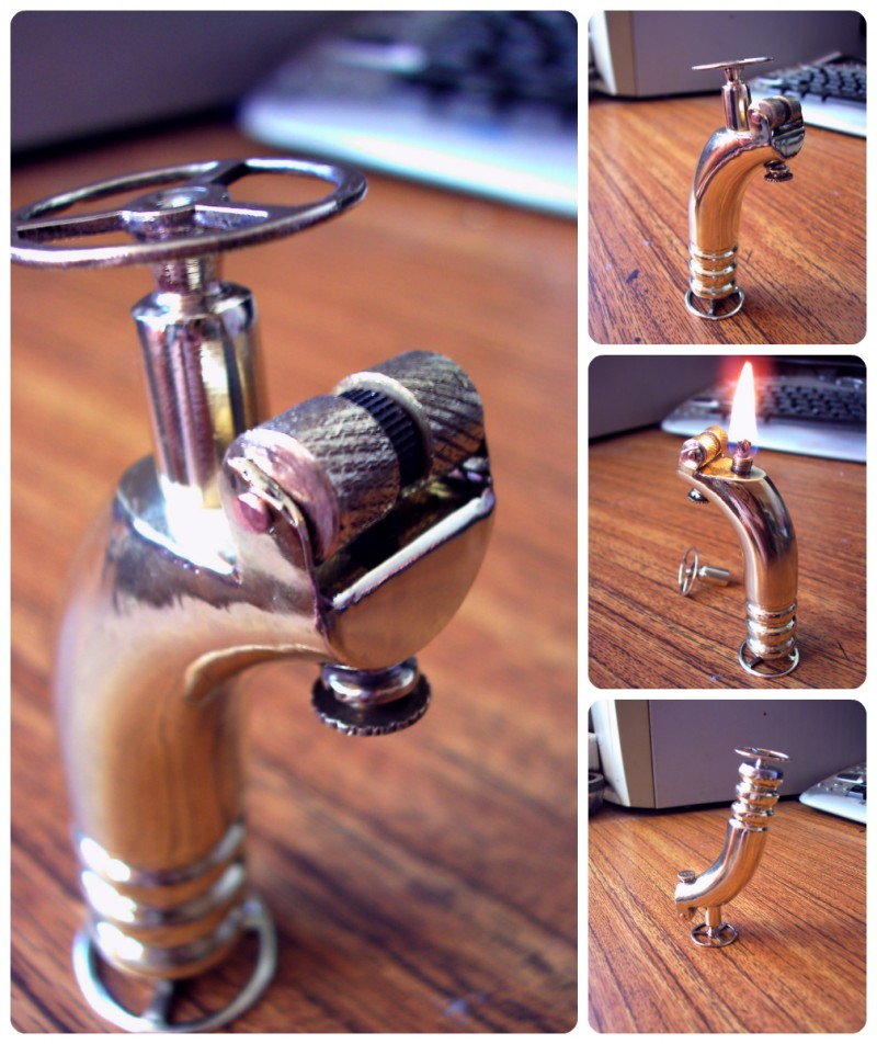 Стимпанк бензиновая зажигалка #5 (6 фото)