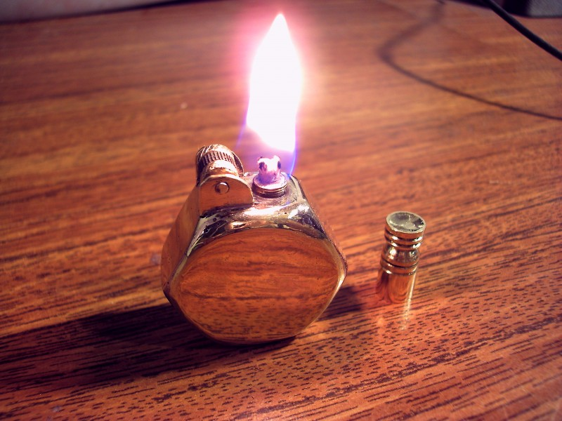 Стимпанк бензиновая зажигалка #6 (4 фото)