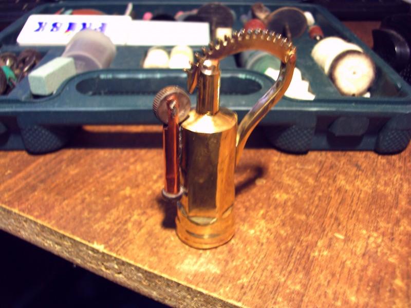 Стимпанк бензиновая зажигалка #7 (4 фото)