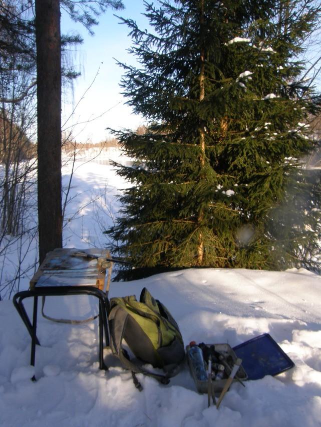 Зимний пленэр (экипировочный пост) (6 фото)