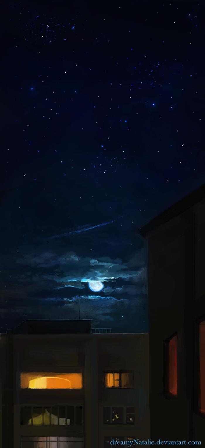 Ночное небо. | Author: DreamyNatalie