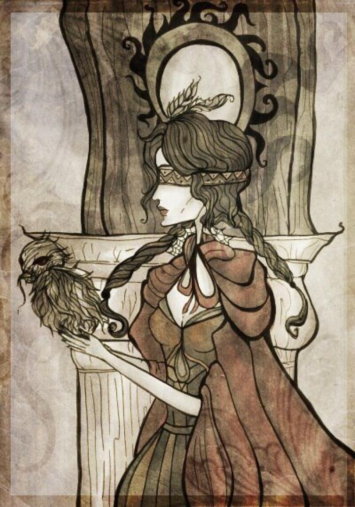 Филиппа Эйльхарт  #mixedmedia #gothic #gothicfantasy #magic #magicalgirl #owl #philippa #sapkowski #wiedźmin #wiedzmin #witcher  #philippaeilhart #thewitcher3 #witcher3 #thewitcher3wildhunt #art #witcher3wildhunt  | Author: elisacoyote