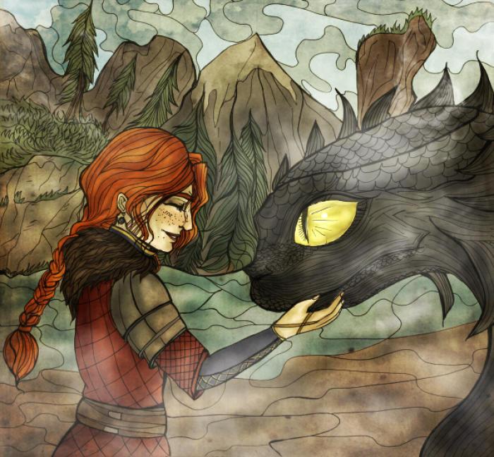 Забавный кроссовер )) #mixedmedia #fanart #crossover #dragon #fantasy #howtotrainyourdragon #httyd #httydhowtotrainyourdragon #crossoverfanart #witcher3 #witcher3wildhunt #cerysancraite  | Author: elisacoyote
