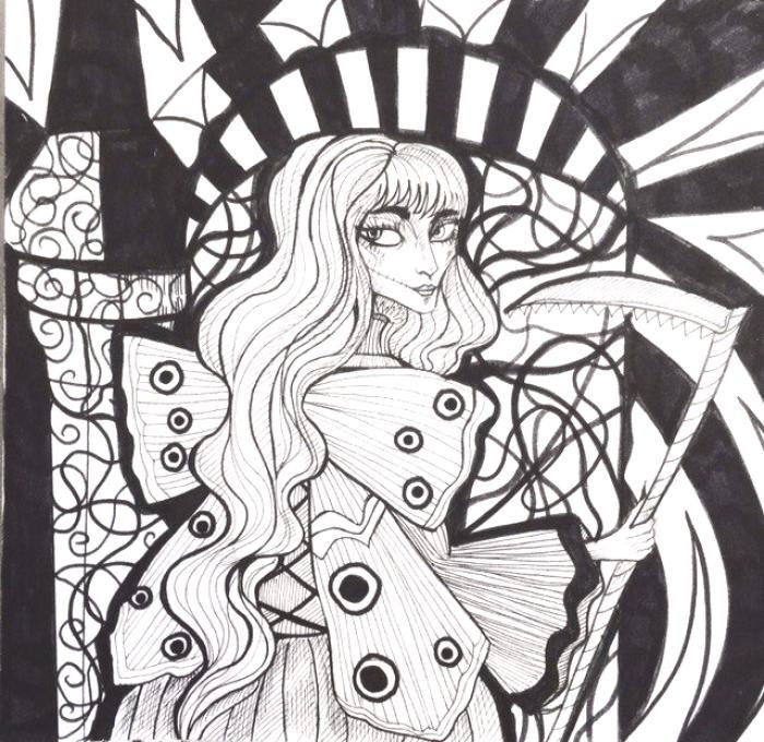 Немного инктобера )Надо себе подобные марафоны почаще устраивать вне зависимости от месяца ) #traditionalart #art #inktober #inktober2017 #darkart #darkfantasy #darkness #gothic #gothicfantasy  | Author: elisacoyote