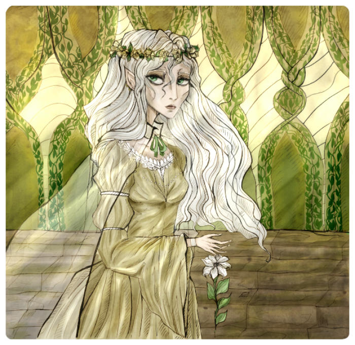 #mixedmedia #fantasy #elvengirl  | Author: elisacoyote