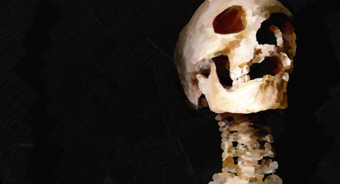 Живи творчеством  #skull #black #digital #old #simple | Author: bigorangemango