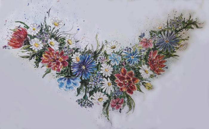 #beauty #color #colorful #flowers #liners #mywork #watercolor #акварель #цветы #красота #цвет #лайнеры #разноцветный #combinedtechnology #комбинированнаятехника #мояработа | Author: TSir