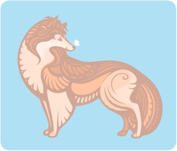 Символ года) #собака #колли  https://printio.ru/classic_woman_tees/115878 | Author: Yullapa