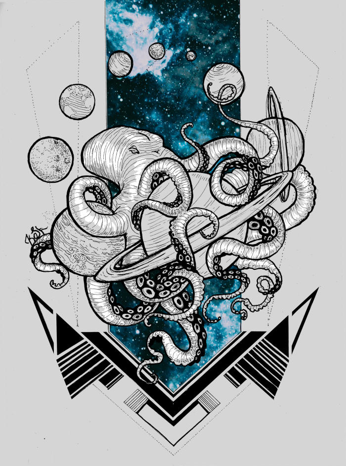 #arts #graphic #inc #octopus #planet #space #tentacles #painting | Author: Ксения Качанова