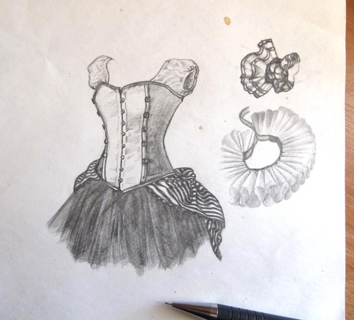 Это я вчера пытался понять как нарисовать балетную пачку, потом дошел до цирковой... в общем, какая-то такая зарисовка. | Author: The Kaaron