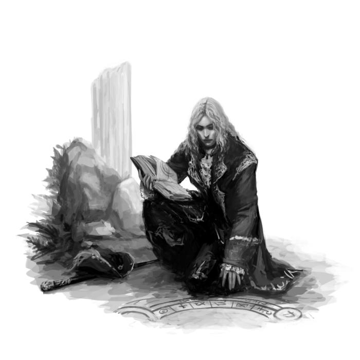 Портрет моего текущего дндэшного персонажа, Альберихта )  #Werlioka #digital_art #DnD #RPG #character #portrait | Author: Werlioka