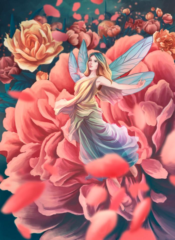 опять к закрытию но я успела #wachthree#art#flower#fairy | Author: Deidg
