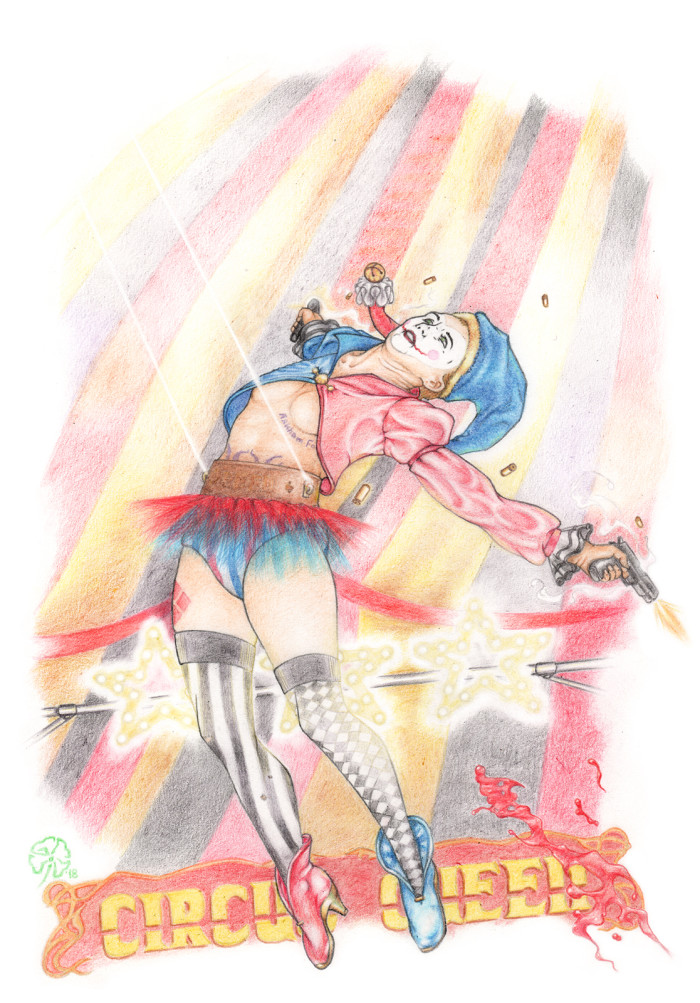 #wachthree Для меня вызов состоял в том, чтобы нарисовать неинтересную дивчину в образе недолюбливаемого мной персонажа и чтоб всё это было весело (для меня). Получилось даже слишком весело, пестрый цирк-шапито, вообще сцена задумывалась более драматичной. | Author: The Kaaron