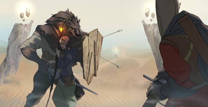 наконец-то #werewolf #witch #desert #fight | Author: McKynzi