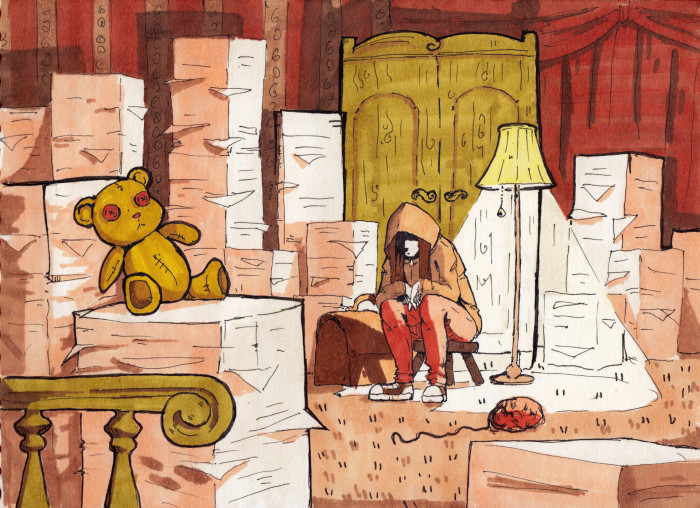 Депресняшка в бумаге   Author: Маленький ПсЫх