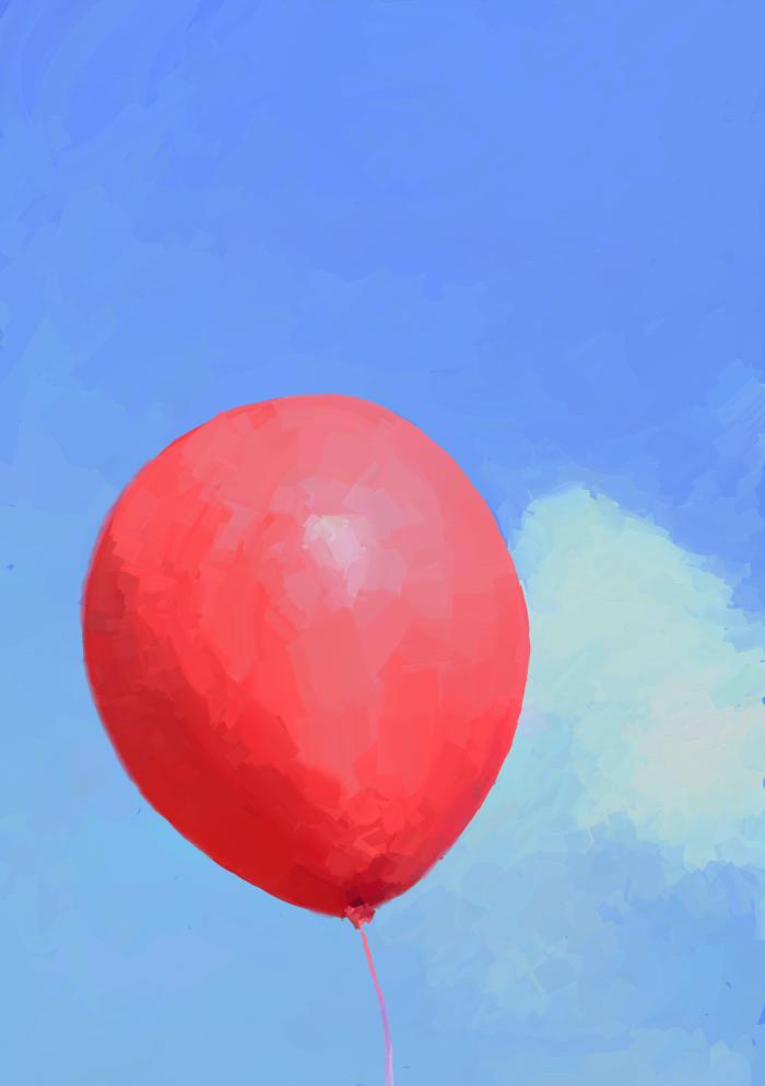 Loss  #digital #balloon #red #blue #sky #illustration | Author: bigorangemango
