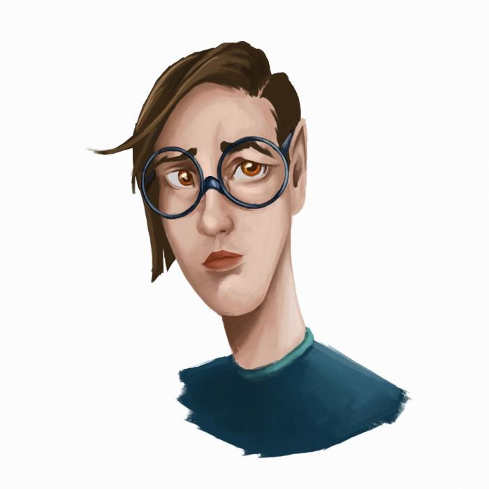#портрет#парень#очки#стадик#art | Author: Deidg