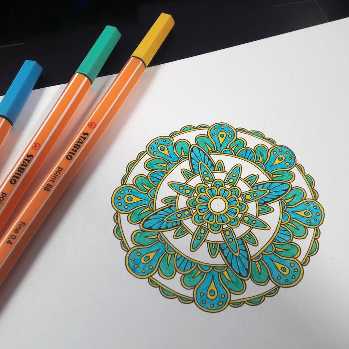 Когда в работе возник перерыв, и надо чем-то заняться )  #Werlioka #Zentangle #Mandala | Author: Werlioka