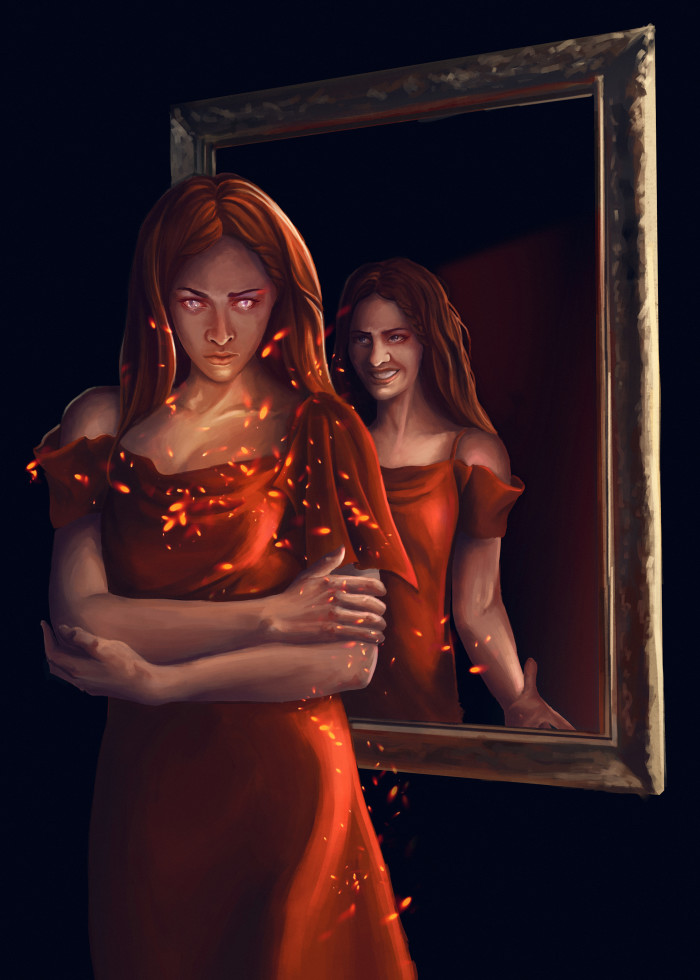 #creepy#phoenix#стадик#портрет#рыжая#ведьма#witch#отрожение | Author: Deidg