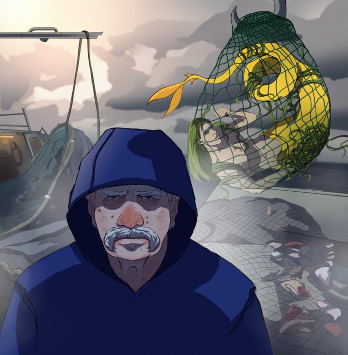 #wacolorch1#моряк#русалка#море#рыбалка#seeman#fisherman#mermaid не уверена надо ли использовать только указанные цвета  или можно их разбавить но вот  | Author: Deidg