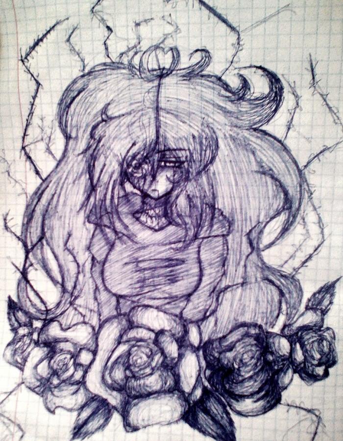 Когда навернулся карандаш, а рисовать писец как хочется , и под рукой оказалась ручка :0  | Author: Sofia_Kuro ╰(▔∀▔)╯