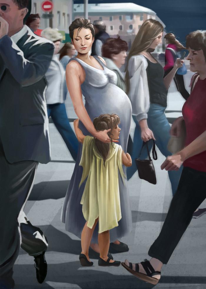 пока погода радует я таки выхожу на улицу говорят это полезно  #mom#mother#mother&child#мама#толпа | Author: Deidg