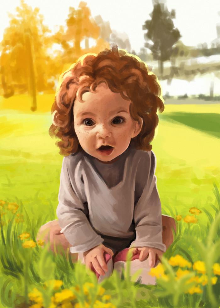 #kids#дети#весна#одуванчики#рыжие#веснушки#солнце#портрет | Author: Deidg