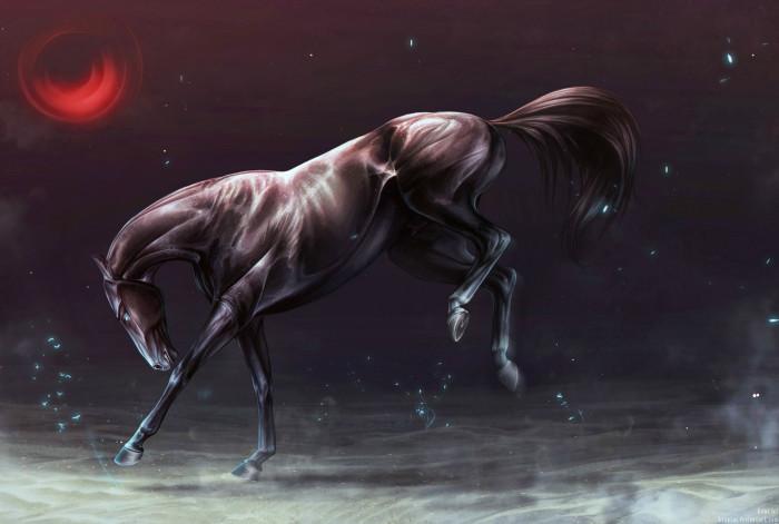 Комиссия.  #akhalteke #animal #commission #desert #fantasy #horse  | Author: Kent
