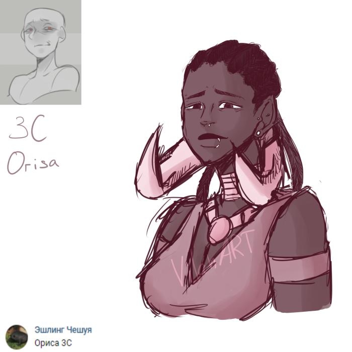#Ow #Overwatch #Orisa #hum #sketch #art #1p1d #1page1day #challenge #Mei  https://twitter.com/Vilan_art https://www.instagram.com/vilan_arts/ https://vk.com/vilan_art | Author: VilanART