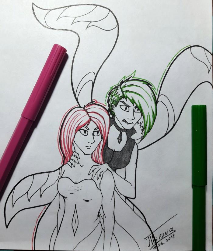 #TIKI_Art #TIKI_Арт_челленж  Никогда не думала, что буду рисовать фей О-о  P.s. неумелые порисульки Винкс в пятилетнем возрасте не считаются    Author: Tekila-Tiki