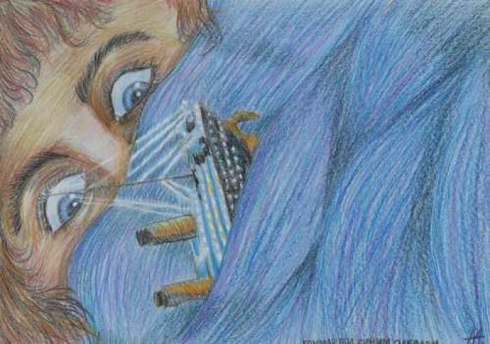 Кошмар под синим одеялом (210*297, бумага, цветные карандаши) | Author: Алексей Макаревич