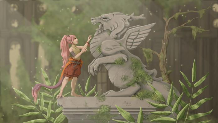 Набросок и финальная работа Персонаж по имени Лиша, от Monro•Sha   Author: Маленький ПсЫх