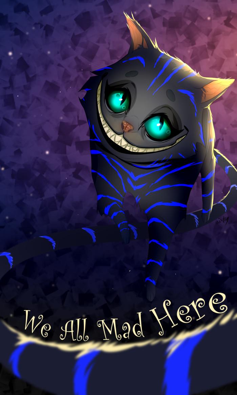 Чеширский котяра (новые обои на рабочий)   Author: The Tiny Mist