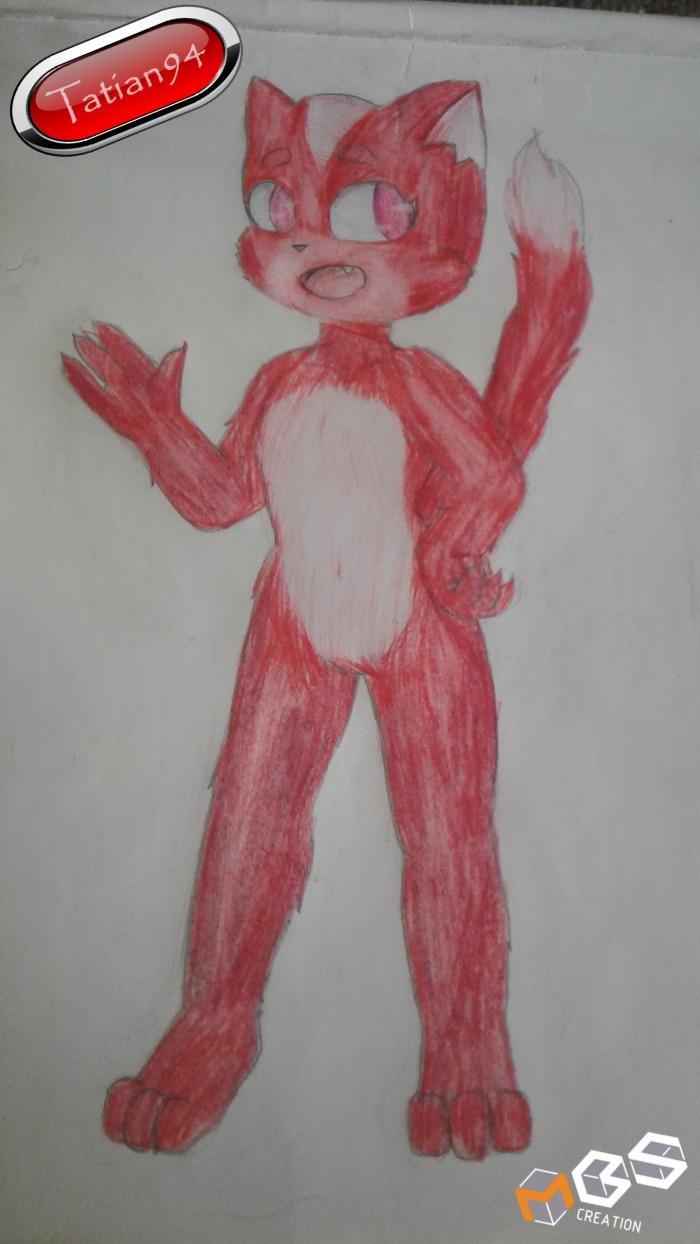 Итак ребят, я вернулась! Я решила попробовать нарисовать фурри. Это коллаб с MBs creation,  который является автором этого персонажа. Кстати, благодаря ему у меня есть несколько логотипов) Оцените мою первую работу с фурряжкой  | Author: Tatian 94