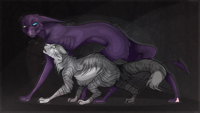 Небольшая сцена, где Тучка пытается позвать на помощь, но Дарк рявкает на нее, заставляя ее прикрыть пасть. | Author: DarkCat (BlackSoul)