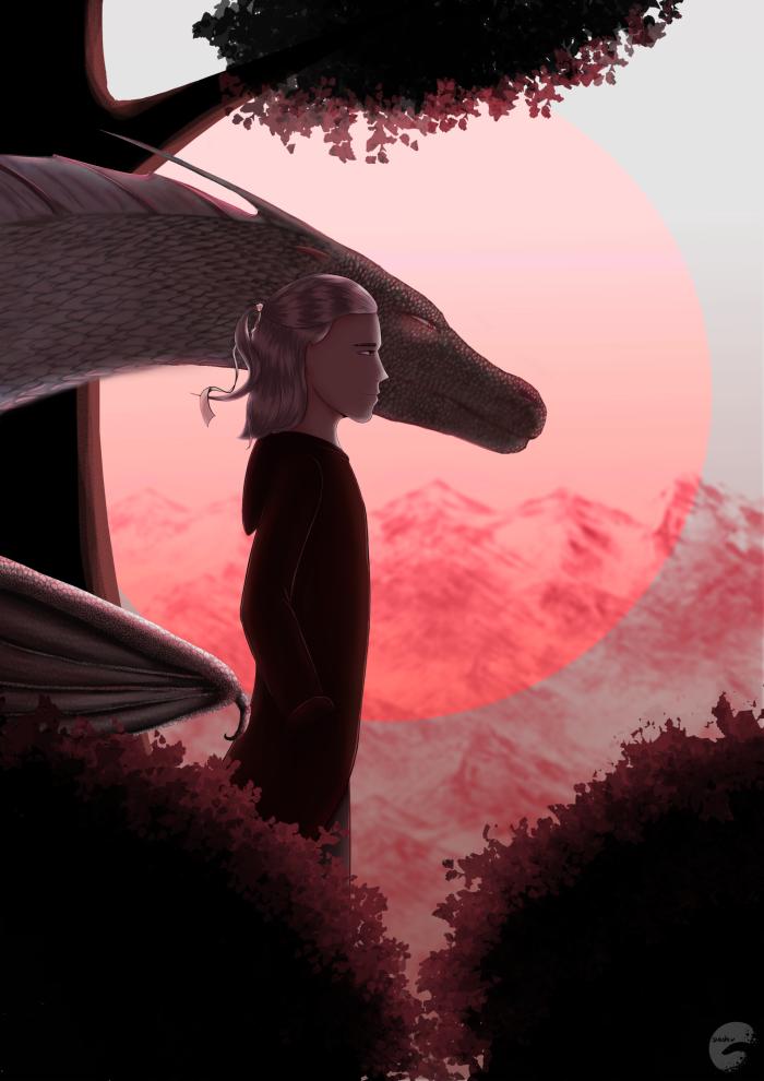 Это Гарри из этого фика: https://ficbook.net/readfic/7198073 #близнецы #альбинос #красный #дракон #twins #dragon | Author: Тенёк