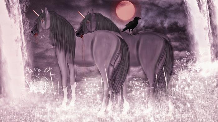 Взошла кровавая луна  И стынут губы как вода  Была она еще жива  Теперь лишь смерти, отдана  Навеки, наша грешная душа. | Author: Kidden Dan