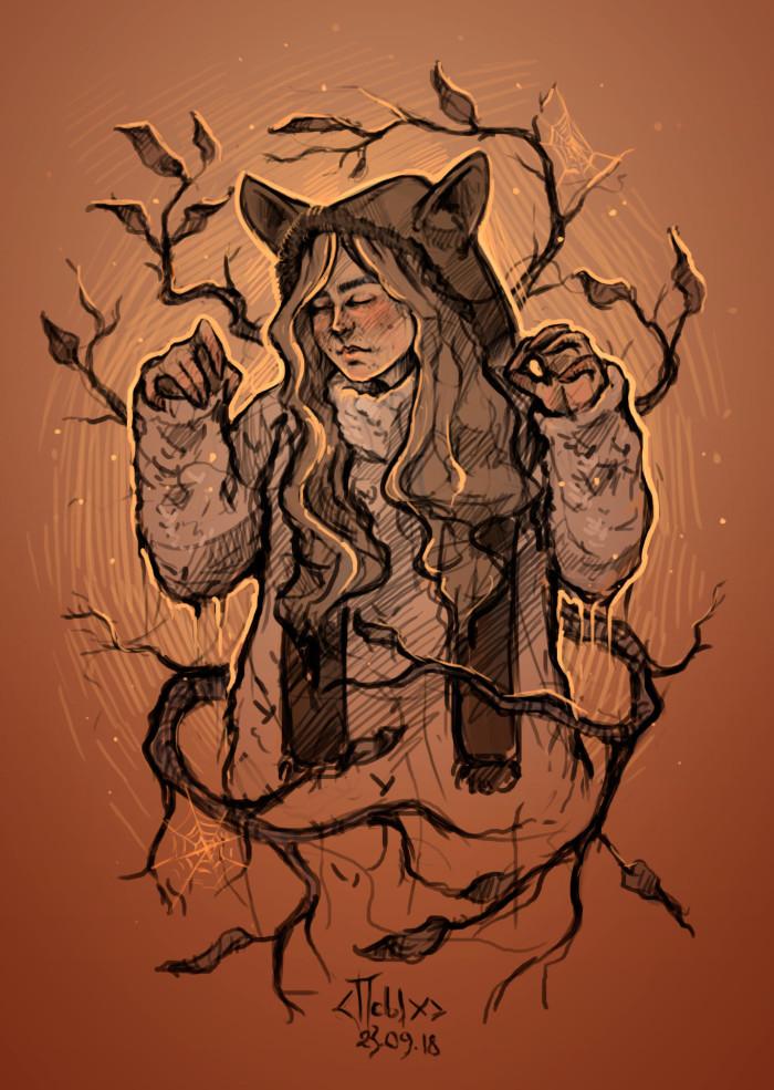в предвкушении октября #осень #ветви #листья    Author: Маленький ПсЫх