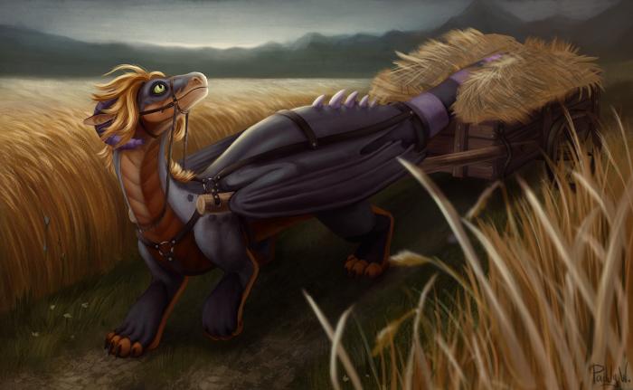 А ездовых драконов вы видели?   #art #dragon #illustration   Author: Бернарт