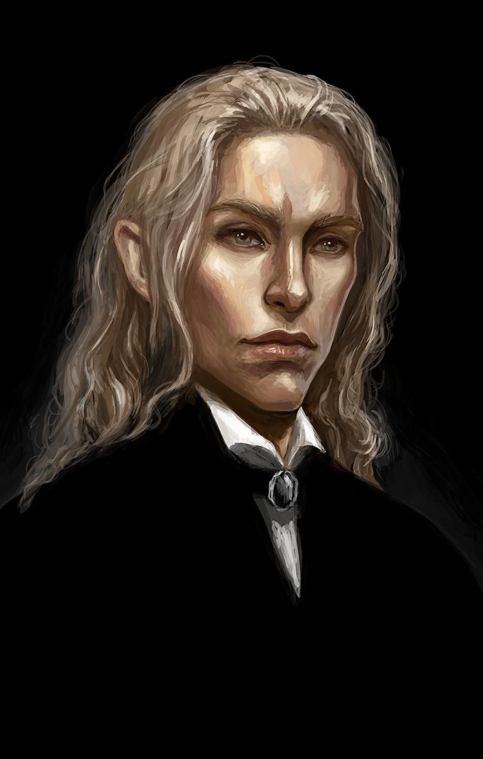 Моя попытка освоить стиль Седрика Пейраверне - художника, который, в частности, работал над серией игр Dishonored. Очень нравится его уверенная манера и грубые мазки кисти.   Мужчина на портрете - Альберихт Рейвенбрук, мой персонаж для DnD.  #Werlioka #portrait #DnD | Author: Werlioka