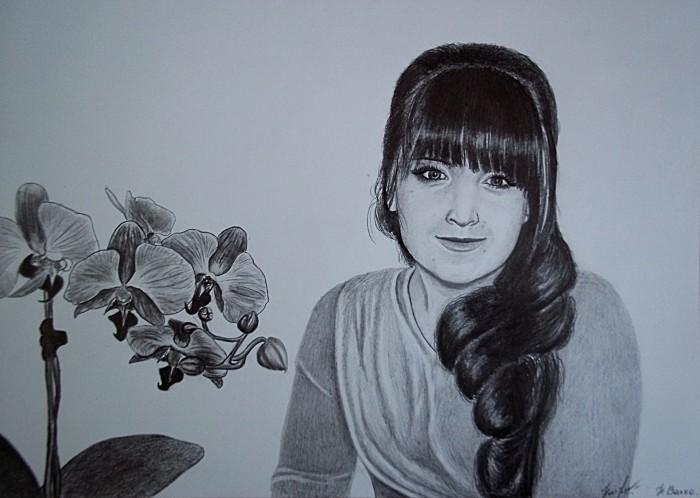 Портрет девушки простыми карандашами, формат А4 | Author: Нина Валко