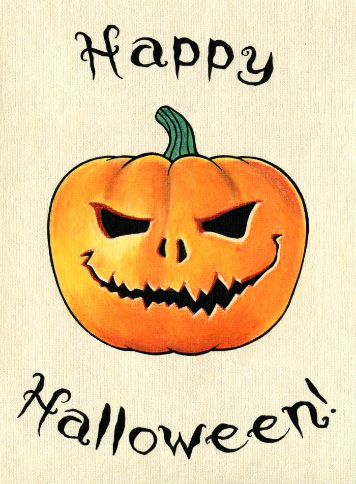 С Хэллоуином, друзья!  В честь праздника решила нарисовать такую вот открыточку ) Выполнено масляной пастелью, цветными карандашами и лайнерами. Бумага с тиснением.  #Werlioka #Halloween   Author: Werlioka