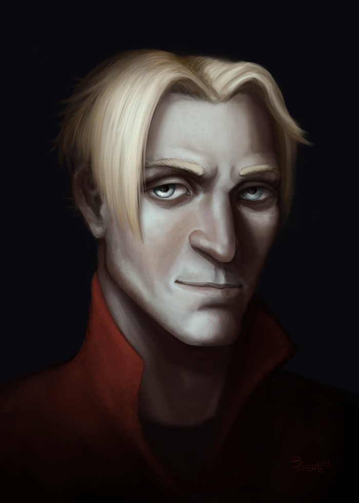 Коммишка    #portrait #vampire #witcher | Author: Бернарт