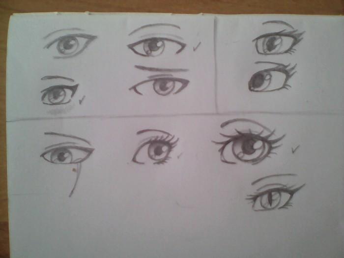 Практиковалась над глазами и как мне лучше их рисовать. Вроде что-то да получилось. | Author: Margo24