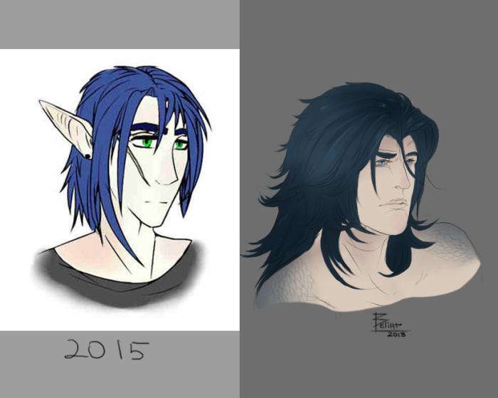 #original_character #portrait #dragon Почти четыре года...  | Author: Beliar