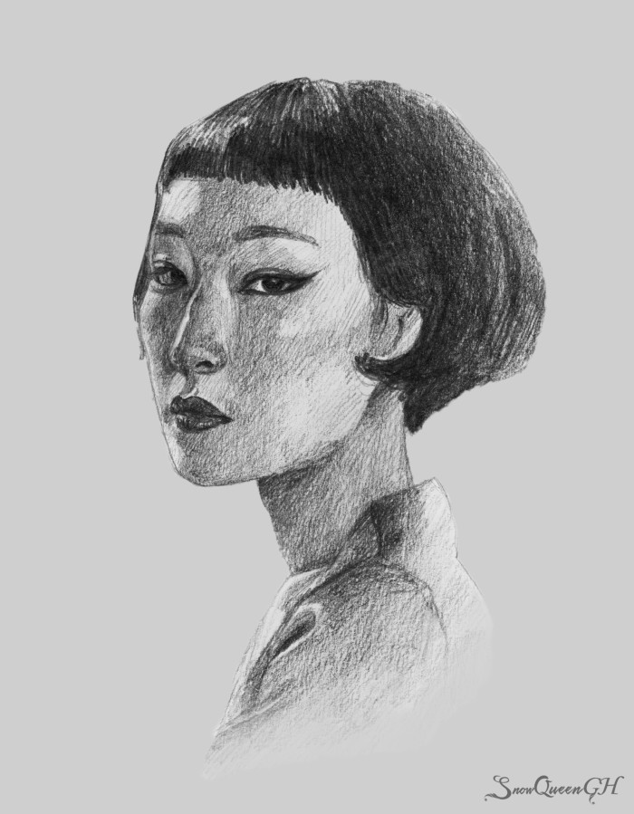 [ понравилась мадам с портретного челленджа ]  ~~~~~~~~~~~~~~~~~~~~~~~~~~~~  #sketch #скетч #portrait #портрет #asian   Author: SnowQueenGH