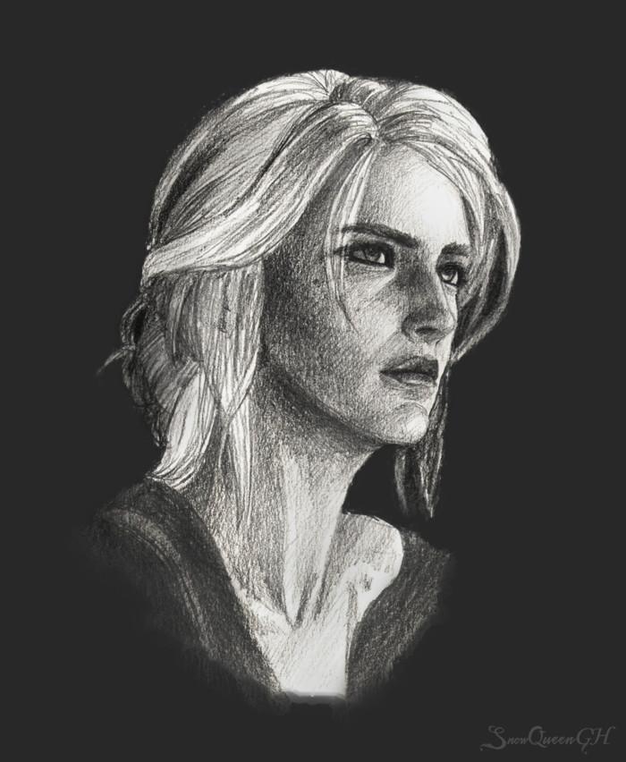 [ Зираэль ]  ~~~~~~~~~~~~~~~~~~~~~~~~~~~~  #sketch #скетч #portrait #портрет #ведьмак #thewitcher3 #цири   Author: SnowQueenGH